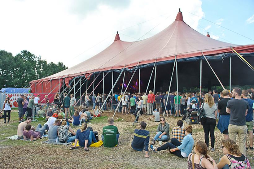 Tent op Lowlands 2013