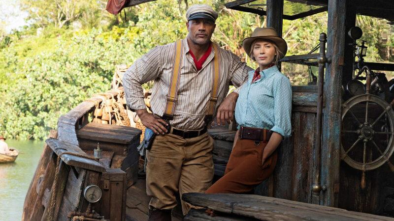 Dwayne Johnson en Emily Blunt in 'Jungle cruise'